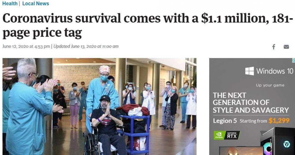 Bệnh nhân Covid-19 ở Mỹ tá hỏa khi thấy hóa đơn viện phí hơn 1,1 triệu USD - Giao Thông
