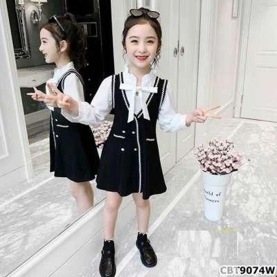 Đầm tay phồng giả yếm sành điệu cho bé gái Profile Picture