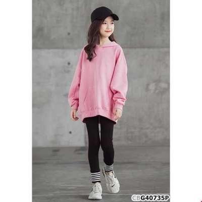 Sét áo hoodie đắp túi và quần legging sọc ngang cho bé gái Profile Picture