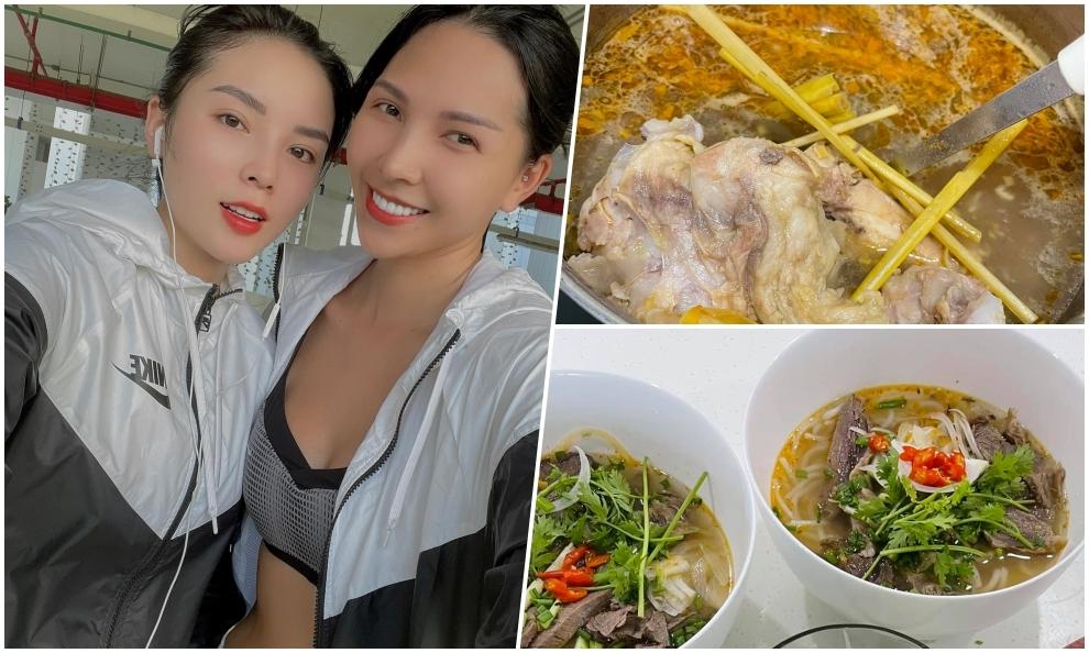 Minh Triệu, Kỳ Duyên nấu hai nồi bún bò Huế ăn đã thèm