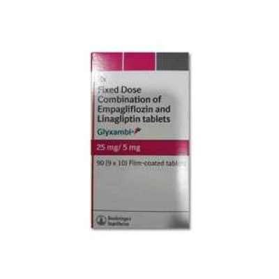 Glyxambi 25/5 mg Tablet - Empagliflozin and Linagliptin Profile Picture